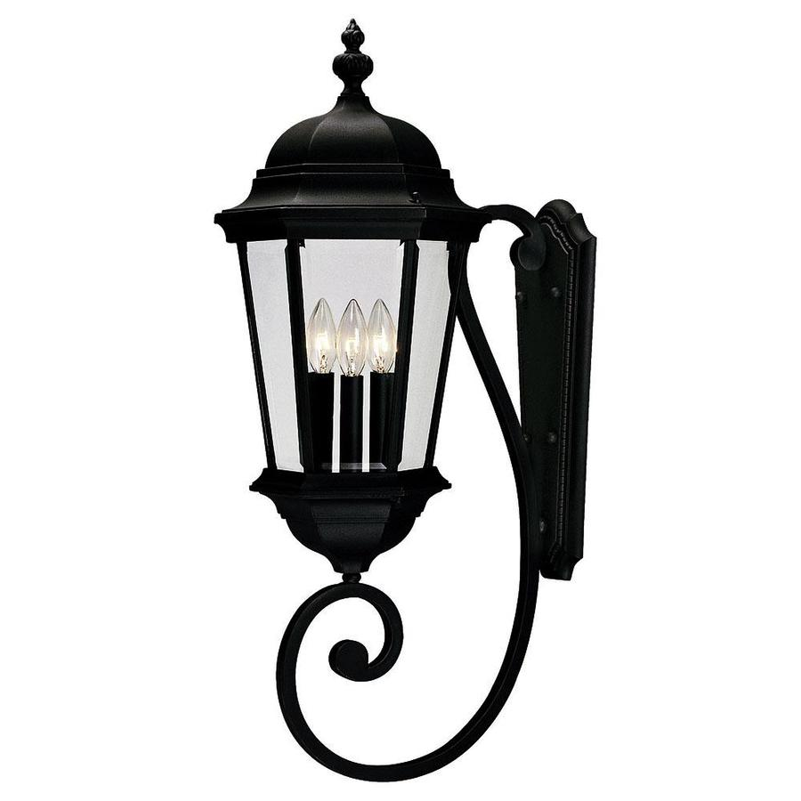 30.75-in H Textured Black Outdoor Wall Light