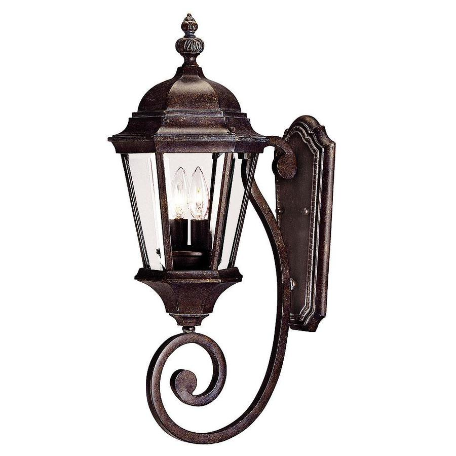 24.75-in H Walnut Patina Outdoor Wall Light