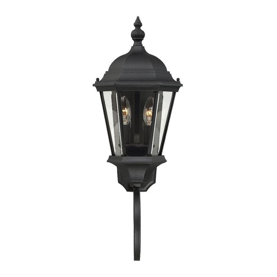 24.75-in H Textured Black Outdoor Wall Light