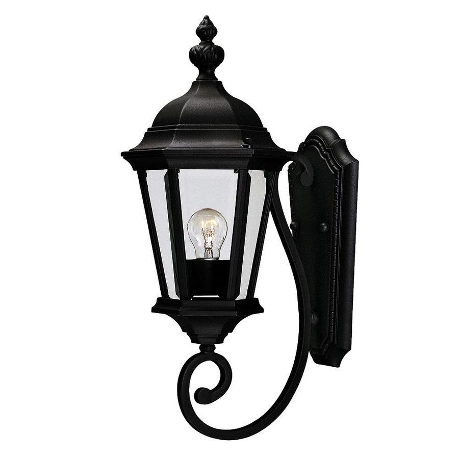 20-in H Textured Black Outdoor Wall Light
