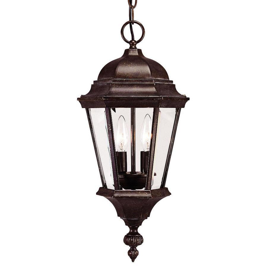 Lapko 20.25-in Walnut Patina Outdoor Pendant Light