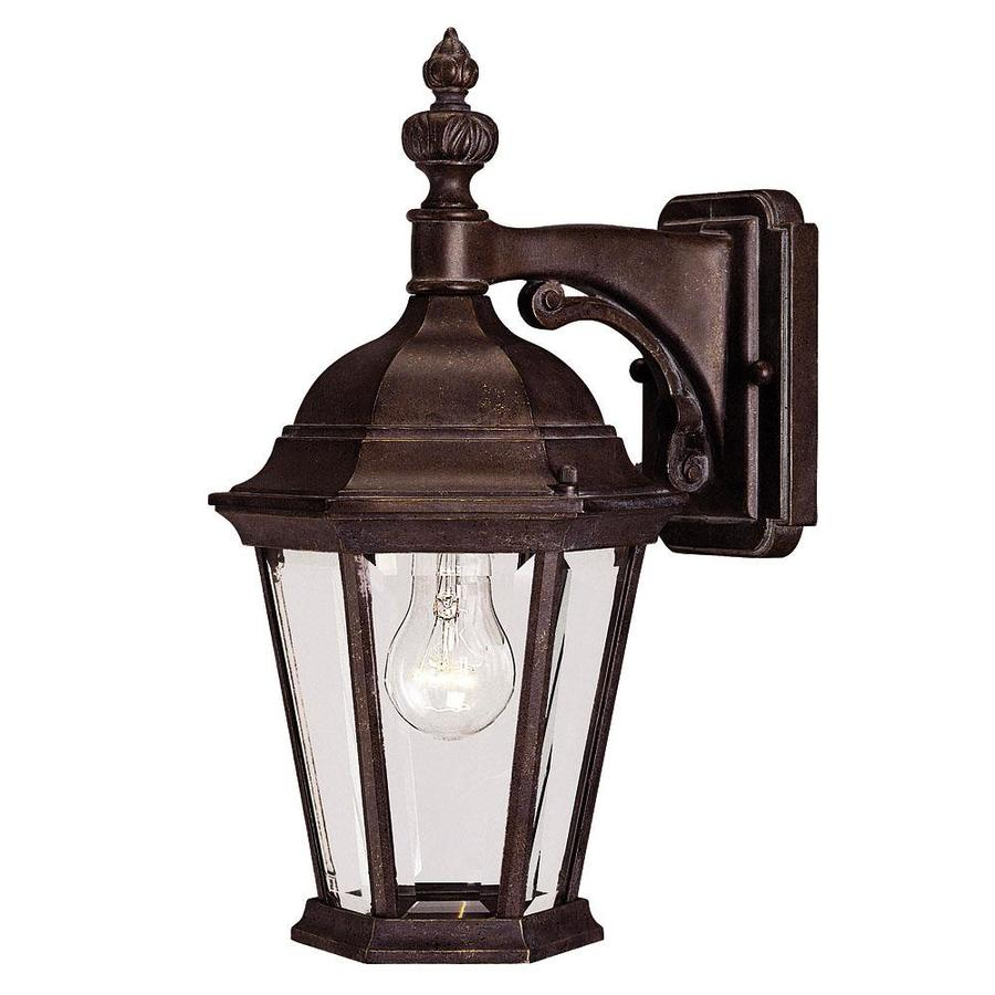 15.5-in H Walnut Patina Outdoor Wall Light