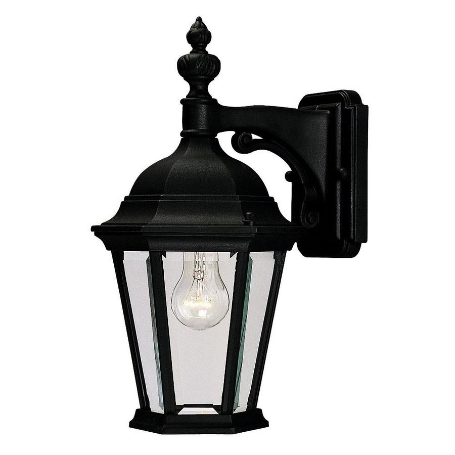 15.5-in H Textured Black Outdoor Wall Light