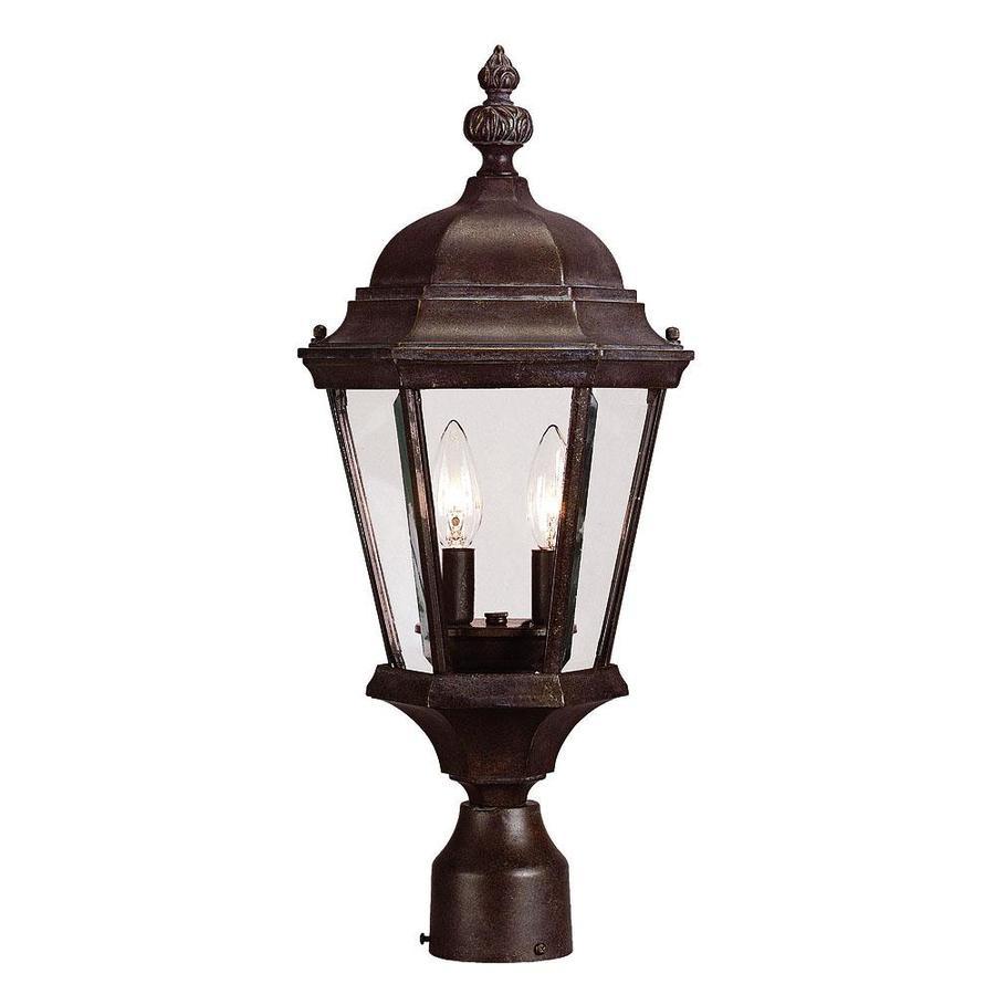 21.25-in H Walnut Patina Post Light