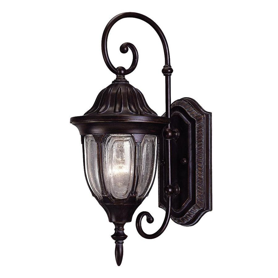 16.25-in H Black and Gold Outdoor Wall Light