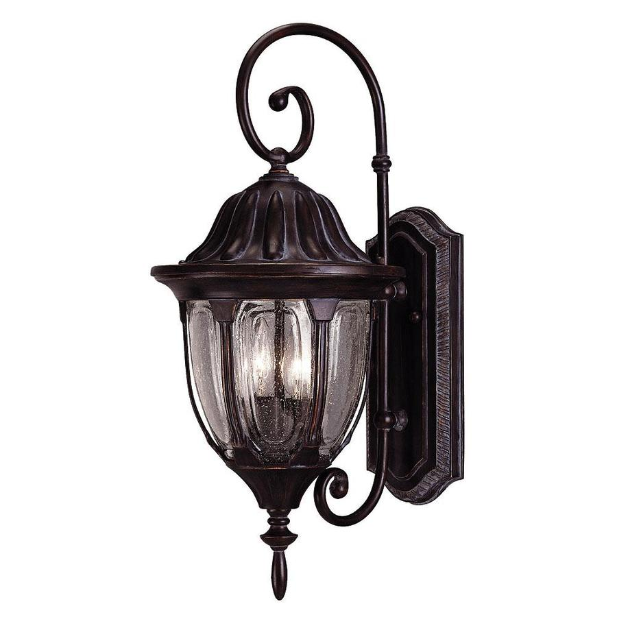 21.75-in H Black and Gold Outdoor Wall Light