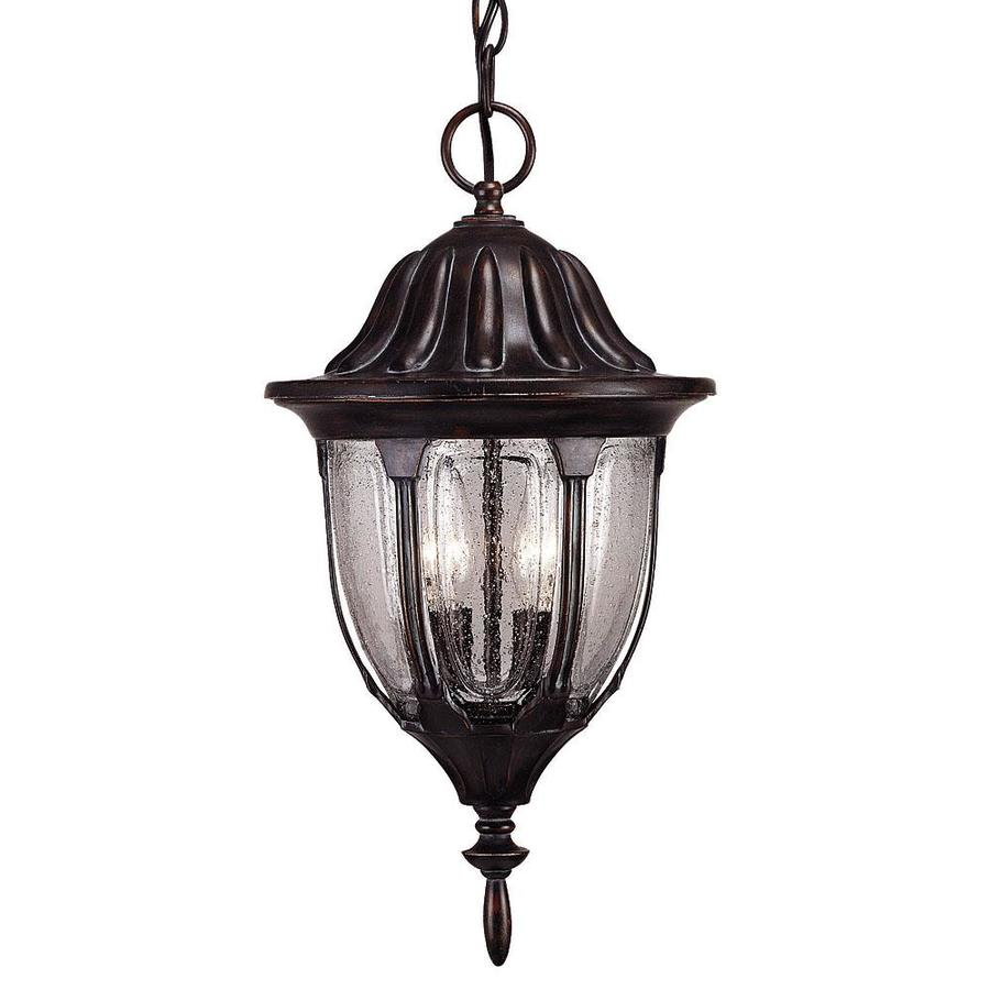 Abasio 17.62-in Black and Gold Outdoor Pendant Light
