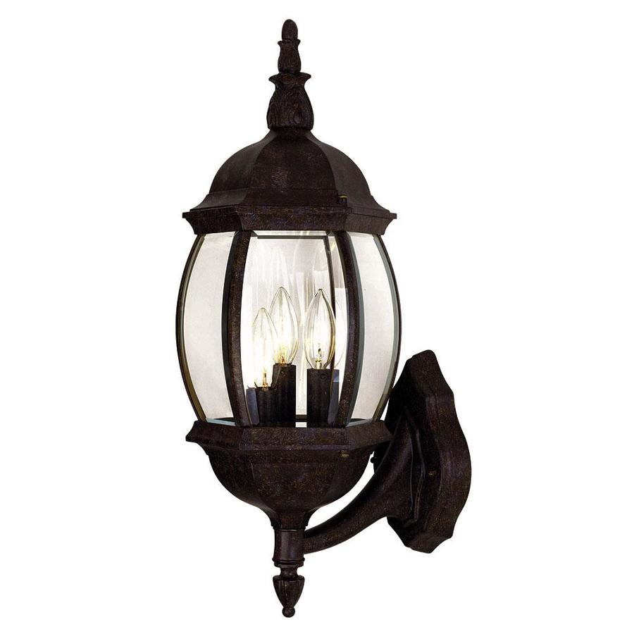 Rustic Bathroom Lighting Lowes: Shop 22.5-in H Rustic Bronze Outdoor Wall Light At Lowes.com