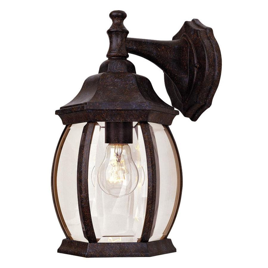 13-in H Rustic Bronze Outdoor Wall Light