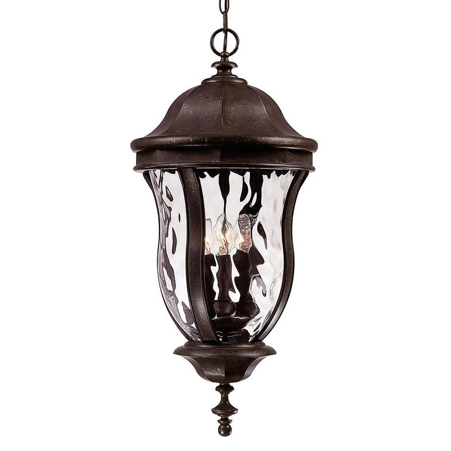 Thomas 28.25-in Walnut Patina Outdoor Pendant Light