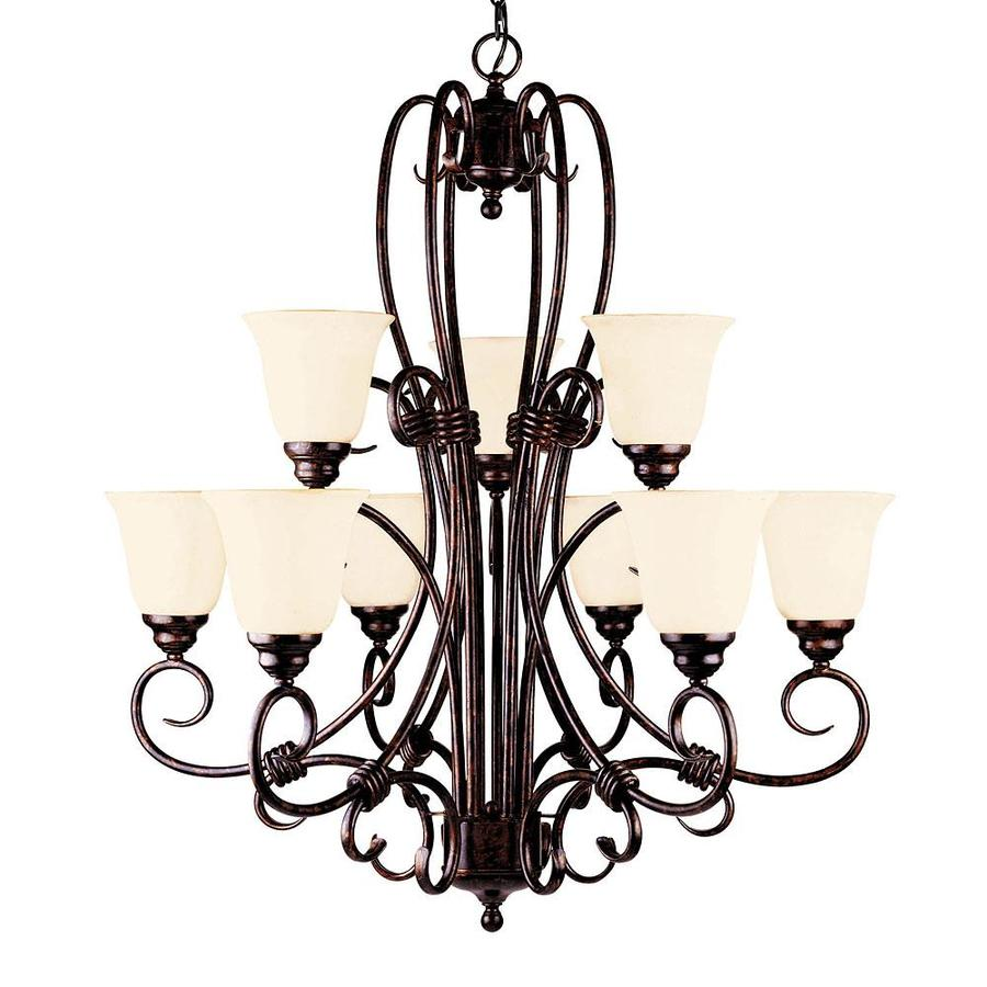 Shandy 32-in 9-Light New Tortoise Shell Candle Chandelier