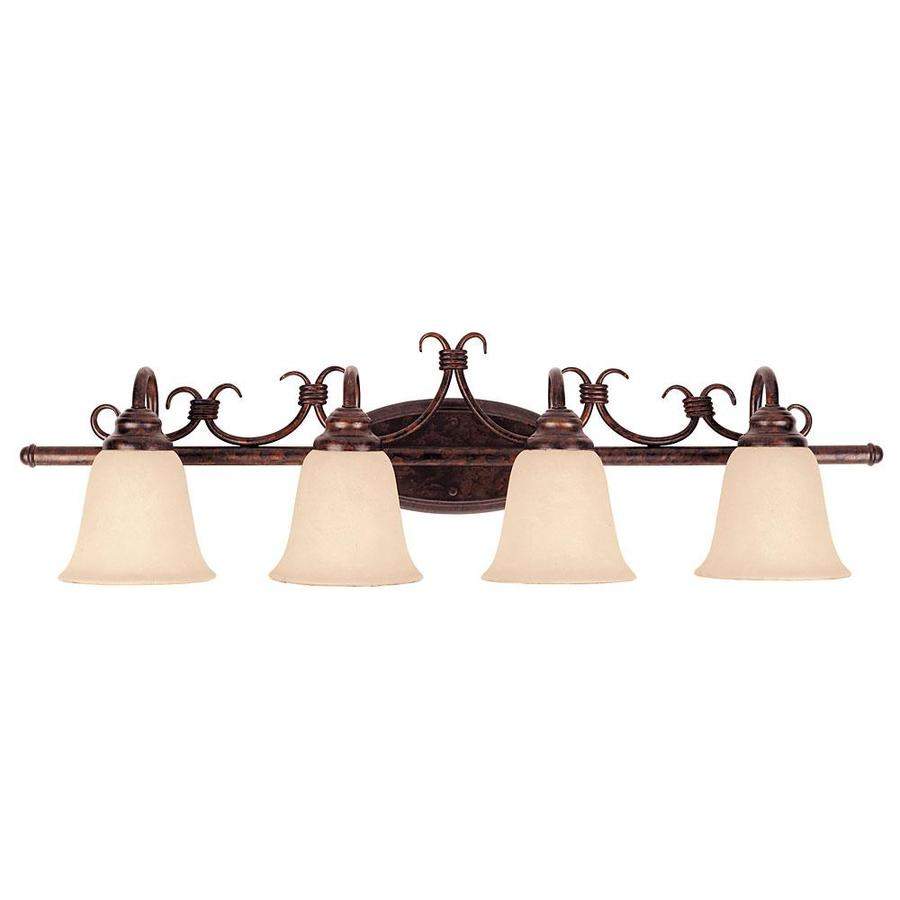 Shandy 4-Light 9.5-in New Tortoise Shell Vanity Light