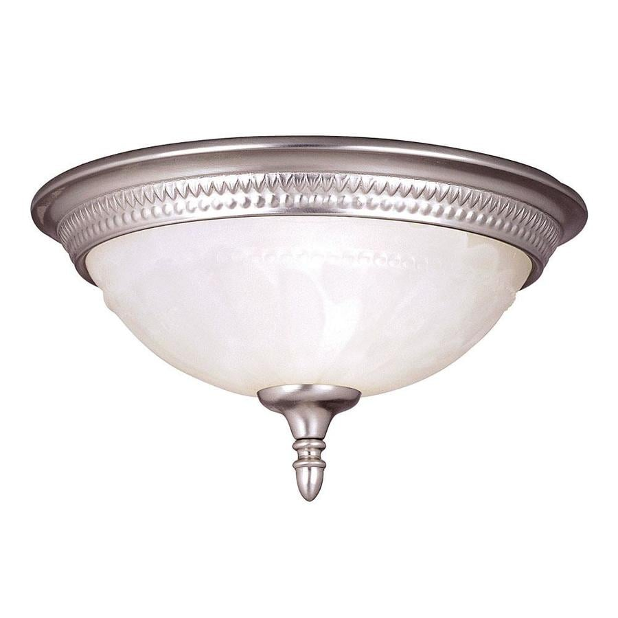 11.51-in W Pewter Flush Mount Light