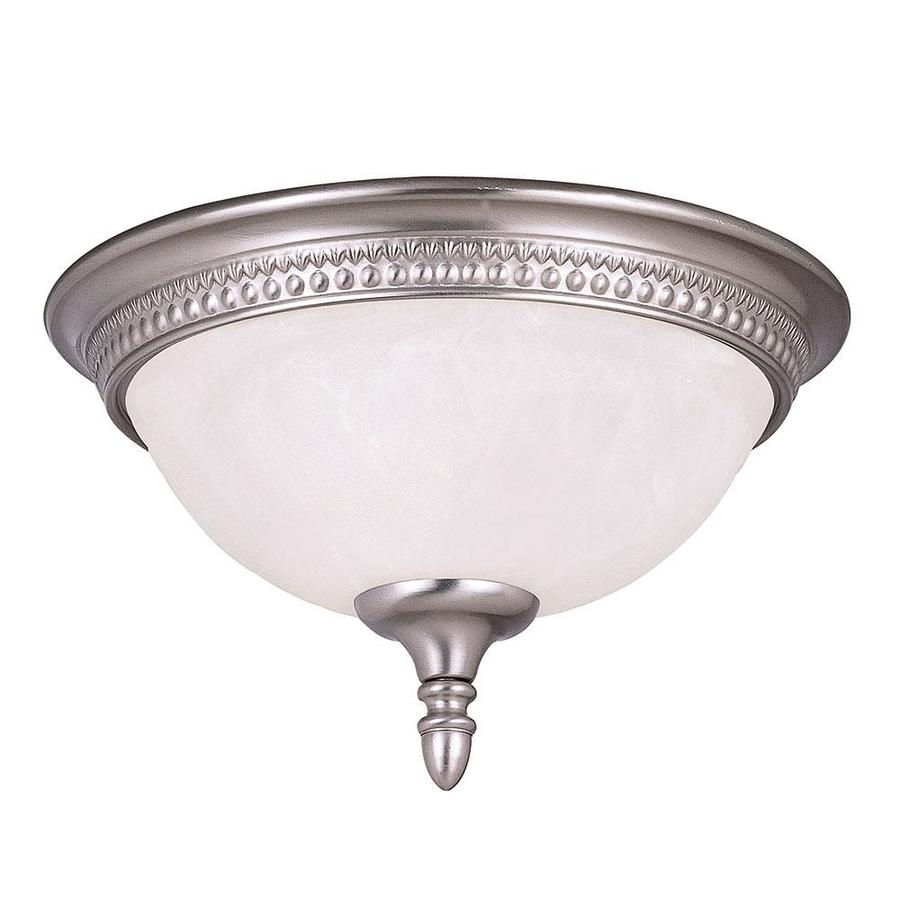 13-in W Pewter Ceiling Flush Mount Light