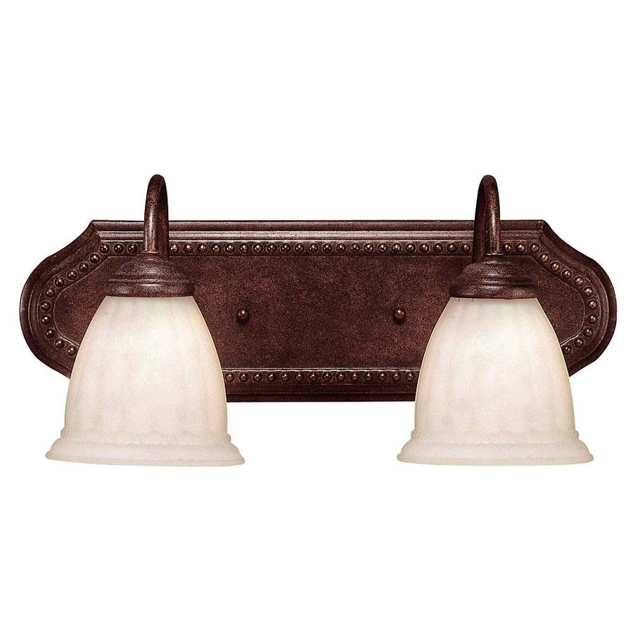 Shandy 2-Light 8.5-in Walnut patina Vanity Light
