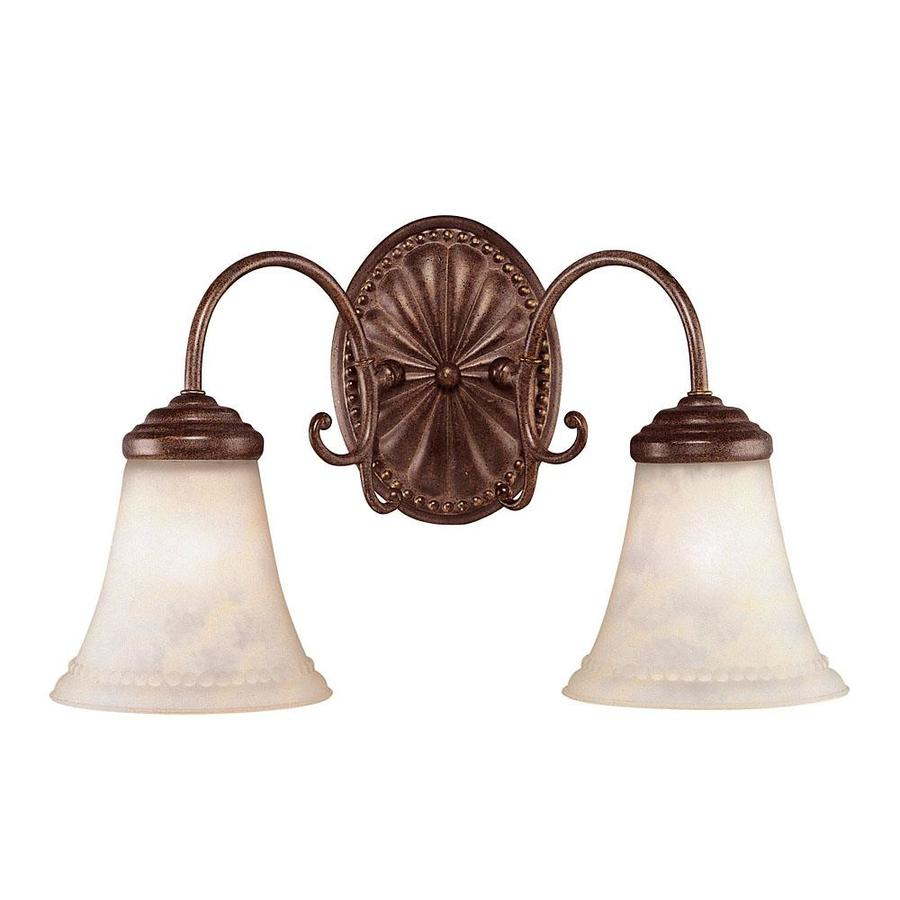 Shandy 2-Light 9.25-in Walnut Patina Vanity Light