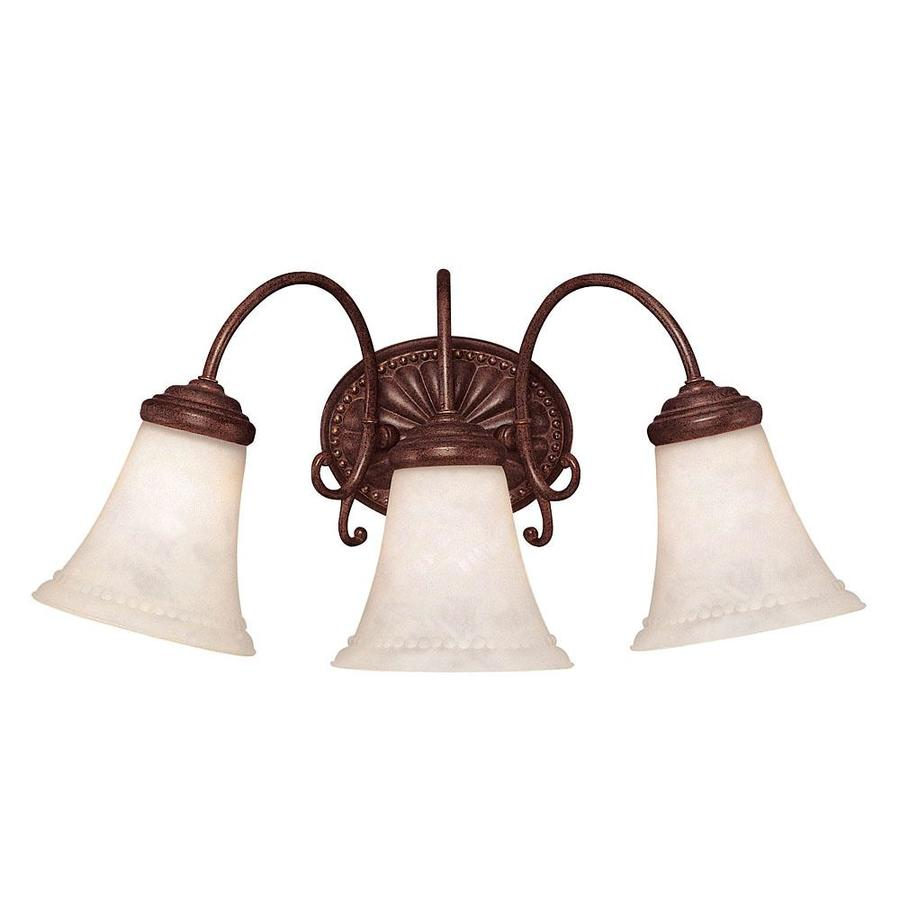 Shandy 3-Light 9-in Walnut Patina Vanity Light
