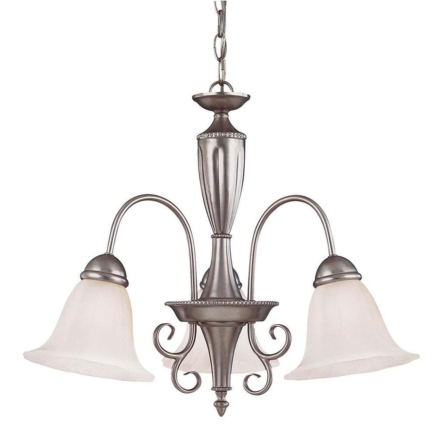 Shandy 21.5-in 3-Light Pewter Candle Chandelier