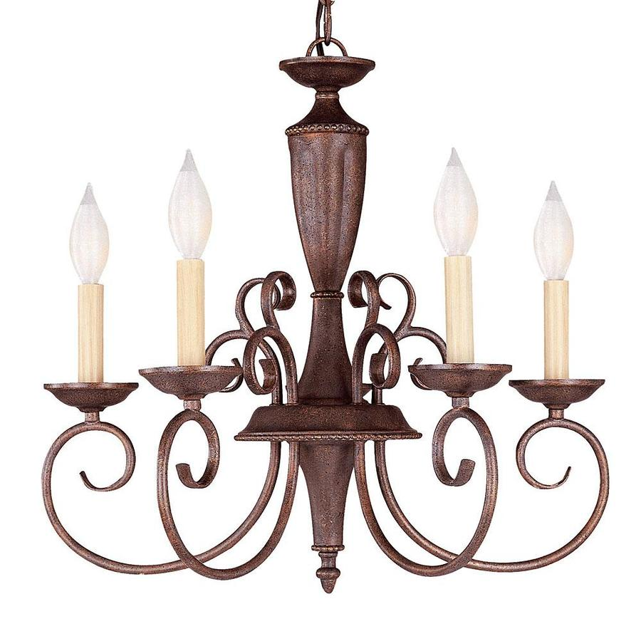 Shandy 19.5-in 5-Light Walnut Patina Candle Chandelier