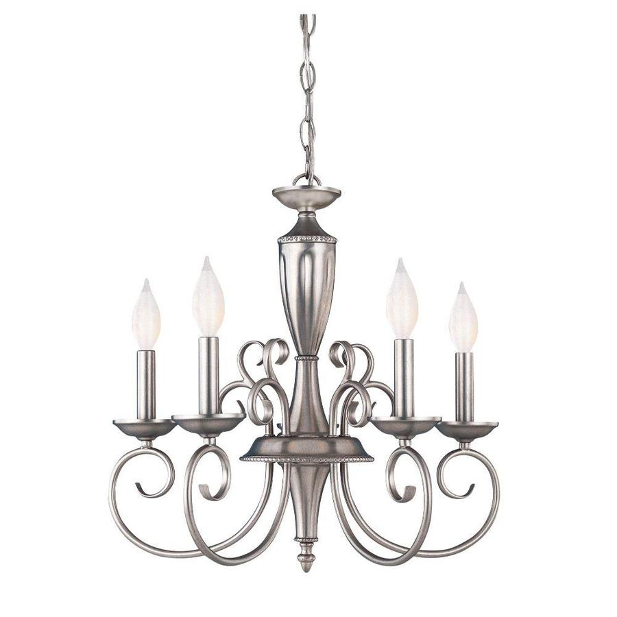 Shandy 19.5-in 5-Light Pewter Candle Chandelier