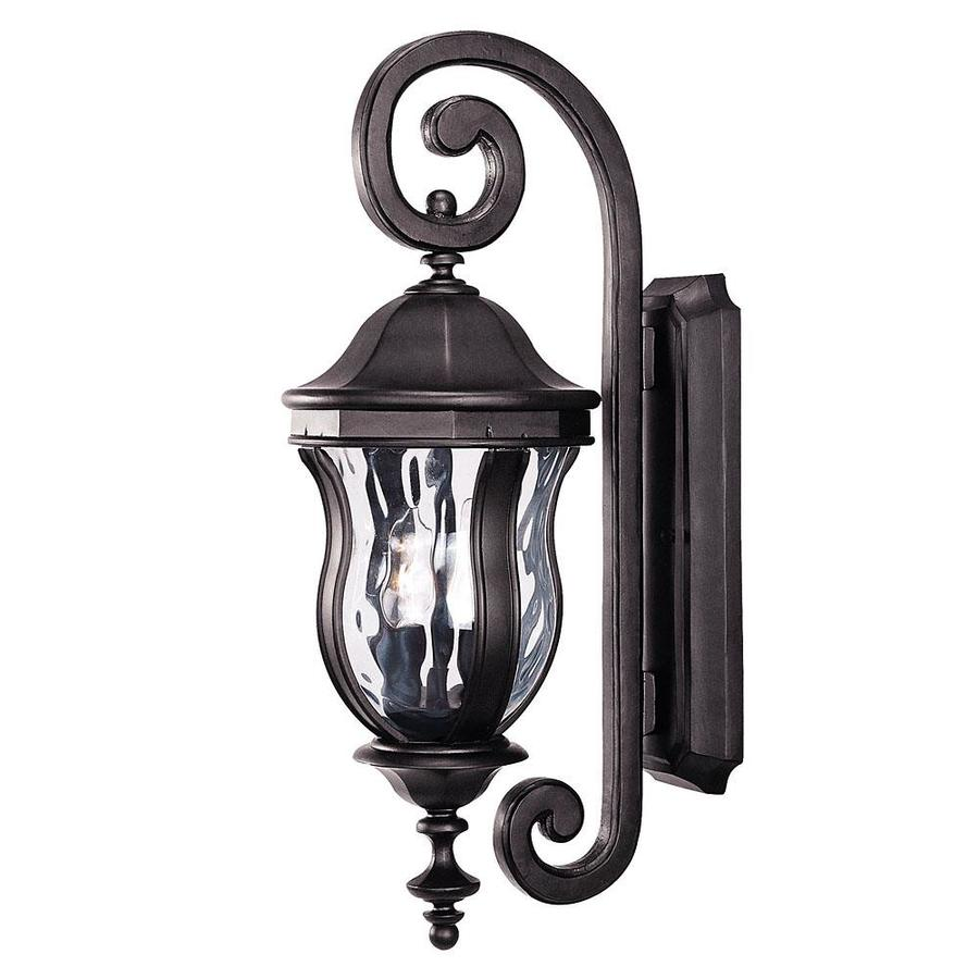 22-in H Black Outdoor Wall Light