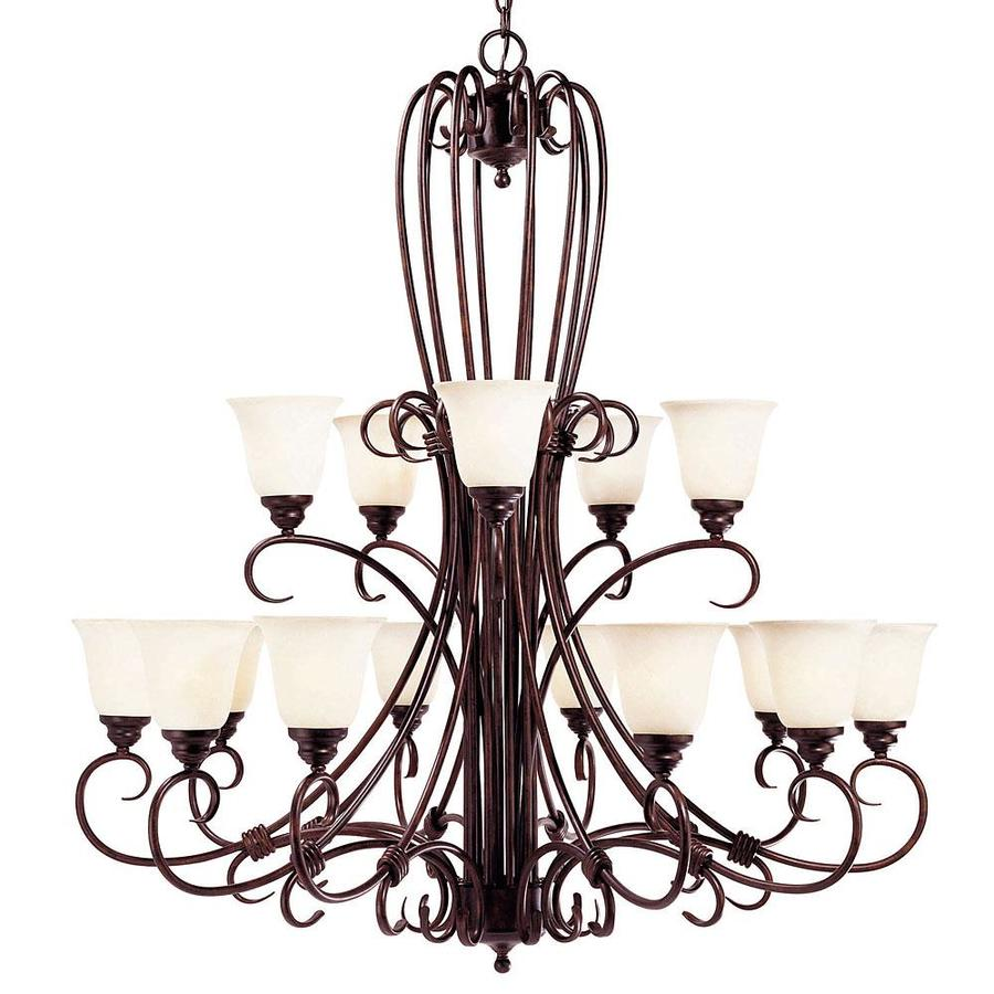 Shandy 45-in 15-Light New Tortoise Shell Candle Chandelier