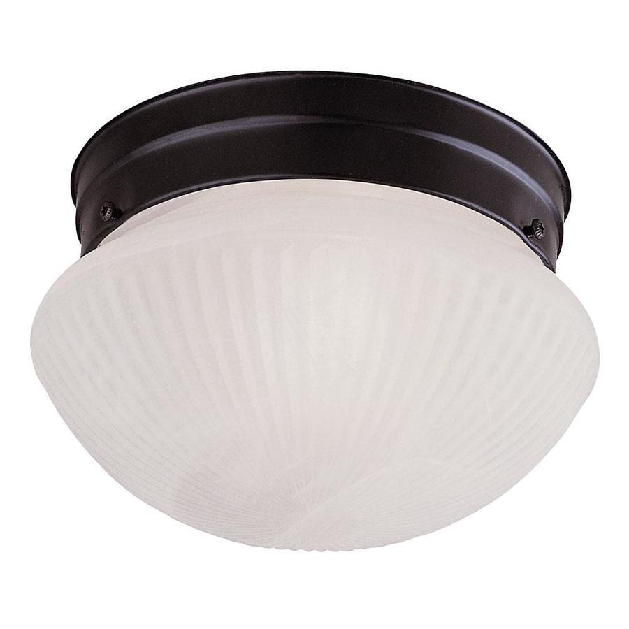 9.8-in W Flat Black Flush Mount Light