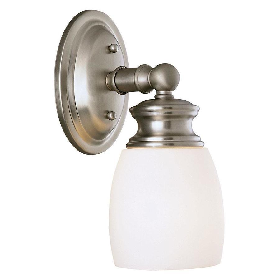 Shandy 1-Light 10.5-in Satin Nickel Vanity Light