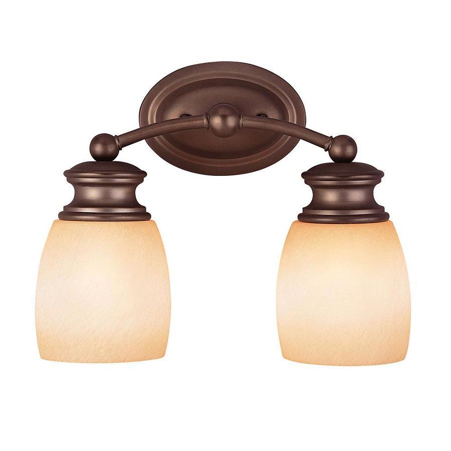 Shandy 2-Light 10.125-in Oiled Burnished Bronze Vanity Light