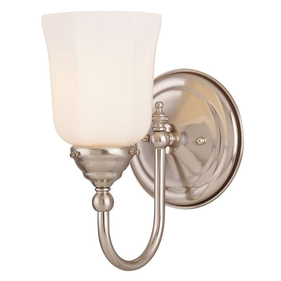 Shandy 1-Light 8.5-in Satin Nickel Vanity Light