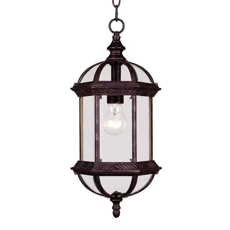 Shop Anitra 18 In Rustic Bronze Outdoor Pendant Light At