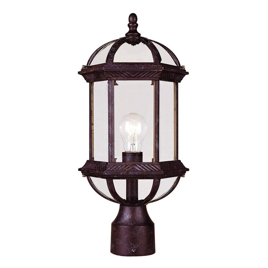17.75-in H Rustic Bronze Post Light