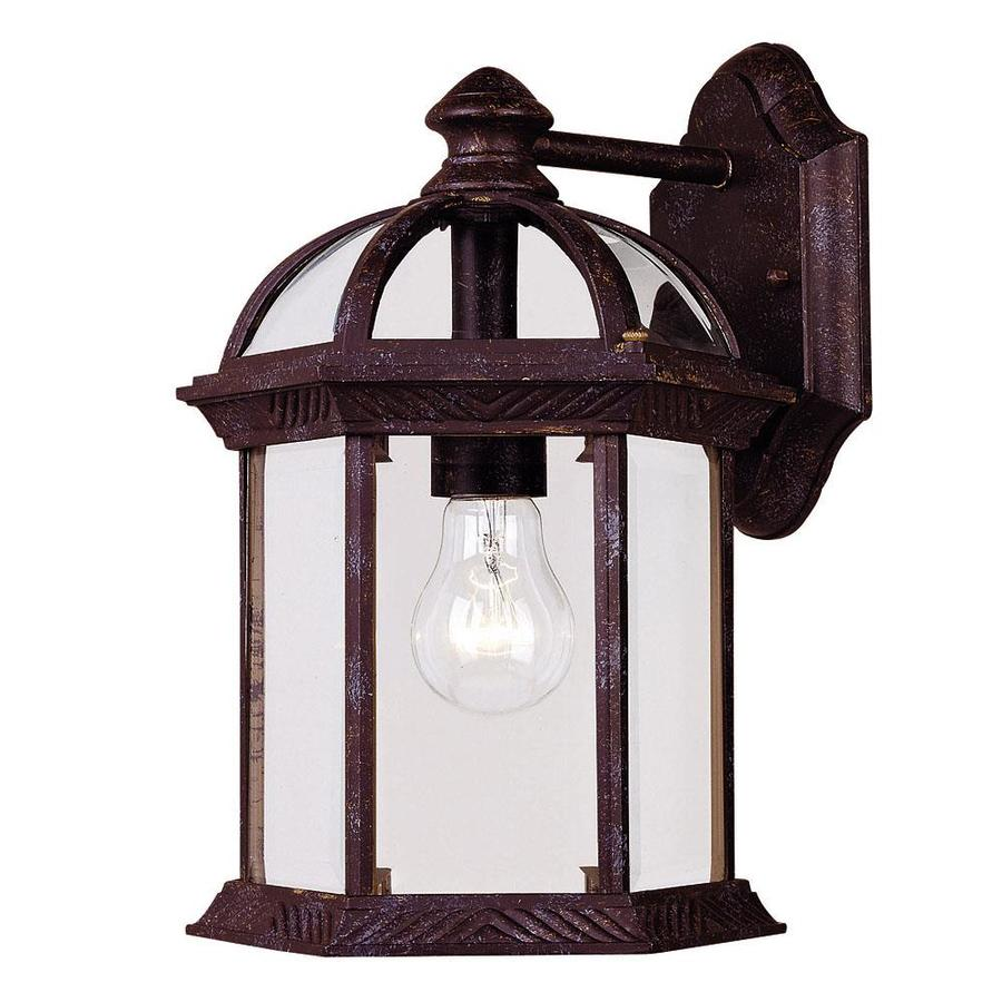 Shop 11 5 In H Rustic Bronze Outdoor Wall Light At