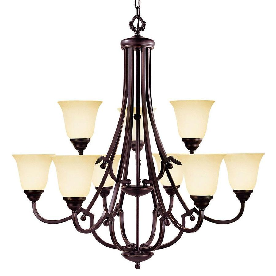 Shandy 34.37-in 9-Light Slate Candle Chandelier
