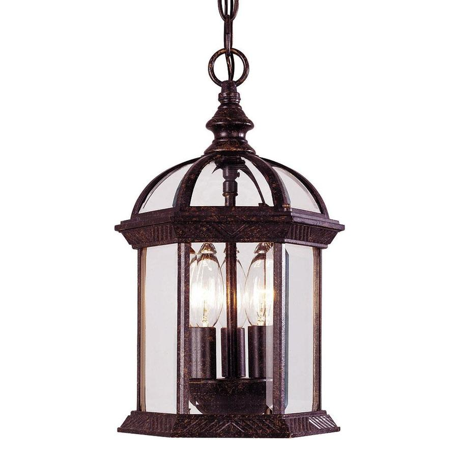 Outdoor Hanging Lanterns Lowes: Murchie Rustic Bronze Single Traditional Pendant Light At
