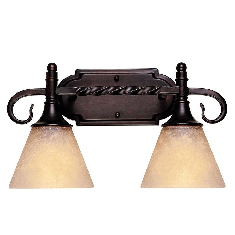 Shandy 2-Light English Bronze Vanity Light