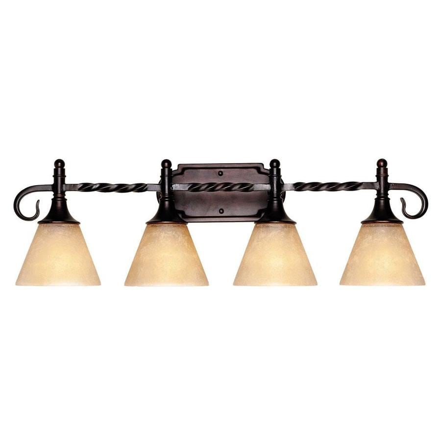 Shandy 4-Light 9-in English bronze Vanity Light