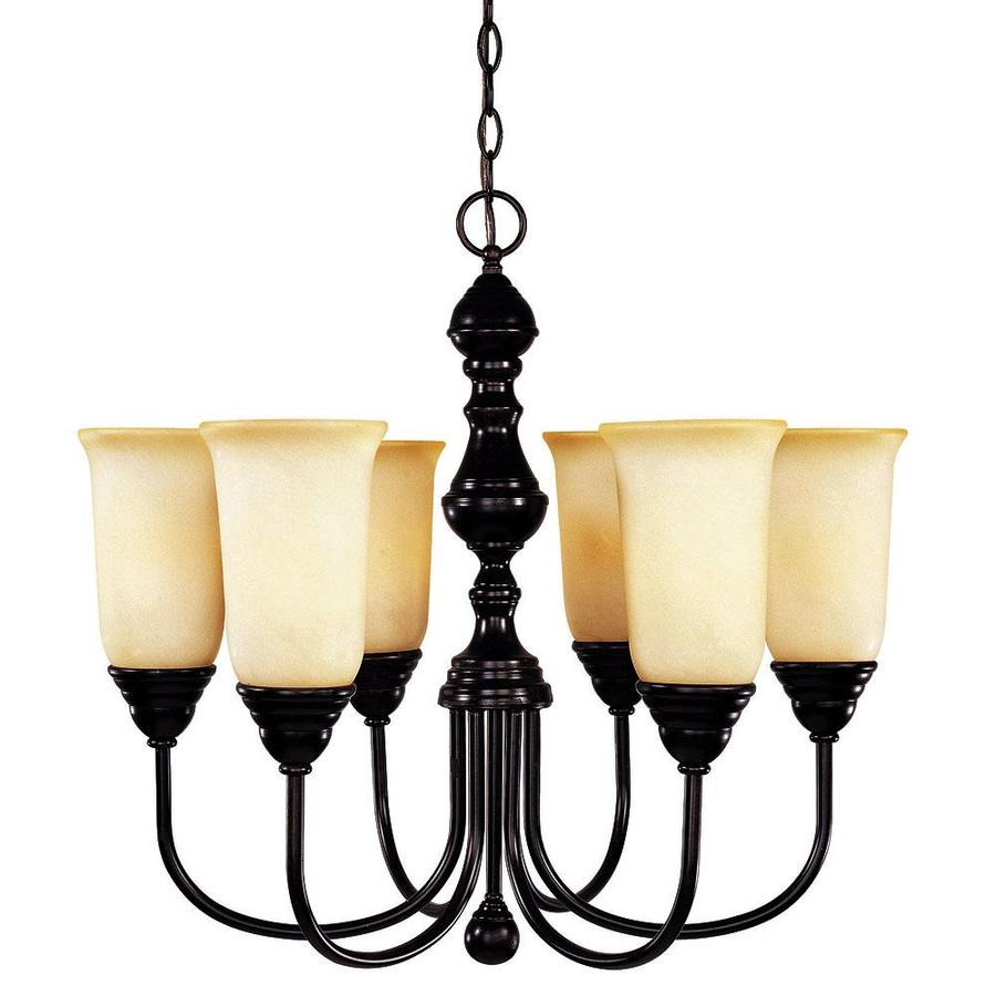 Shandy 24-in 6-Light English Bronze Candle Chandelier