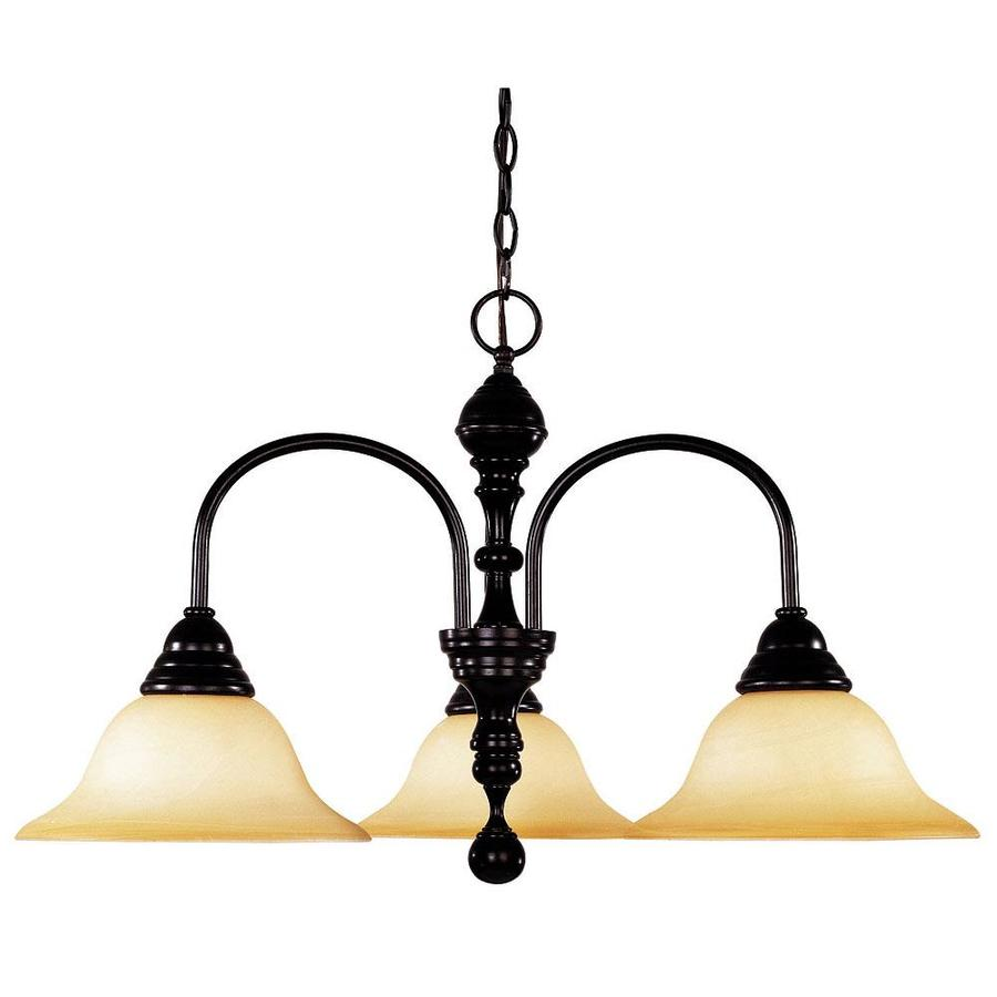 Shandy 26.75-in 3-Light English Bronze Candle Chandelier