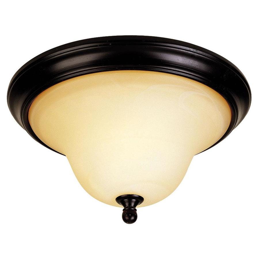 12.74-in W English bronze Flush Mount Light