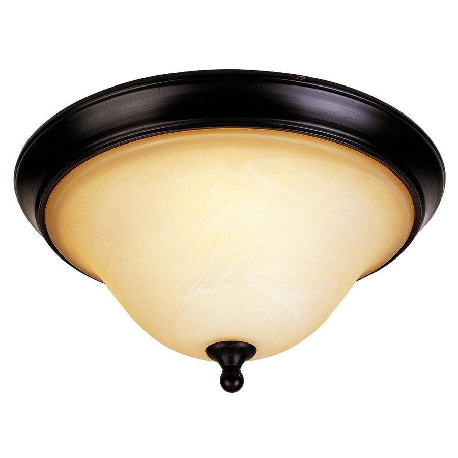 14.7-in W English Bronze Flush Mount Light