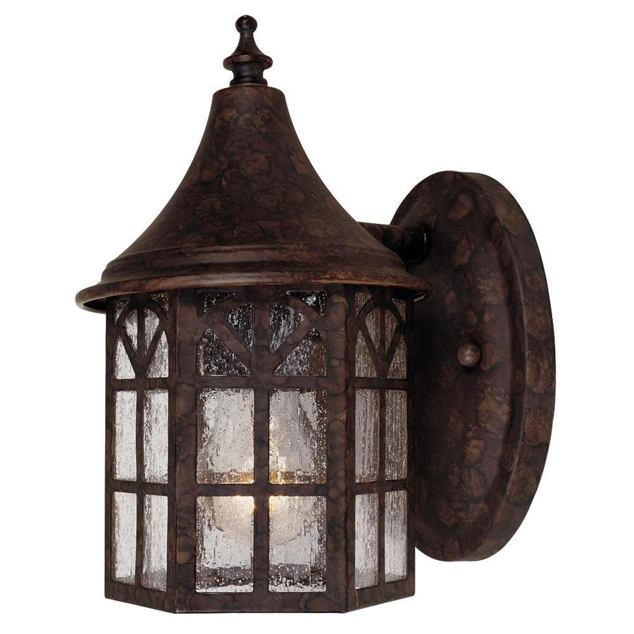 8.75-in H New Tortoise Shell Outdoor Wall Light