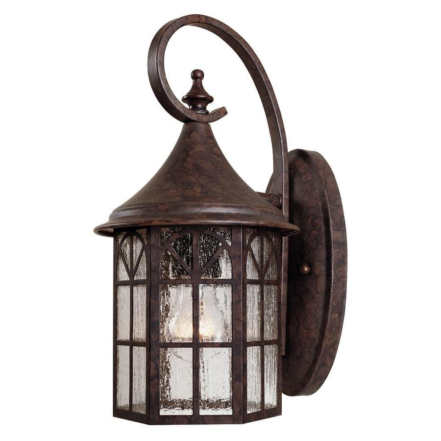 14-in H New Tortoise Shell Outdoor Wall Light