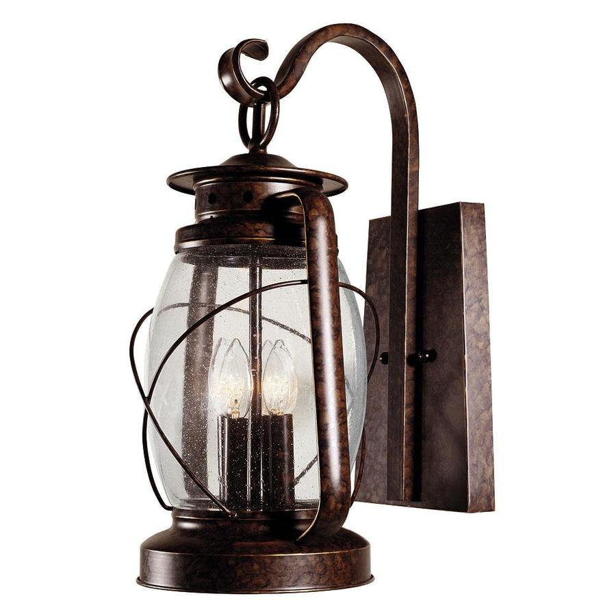 Shop 20 5 In H New Tortoise Shell Outdoor Wall Light At