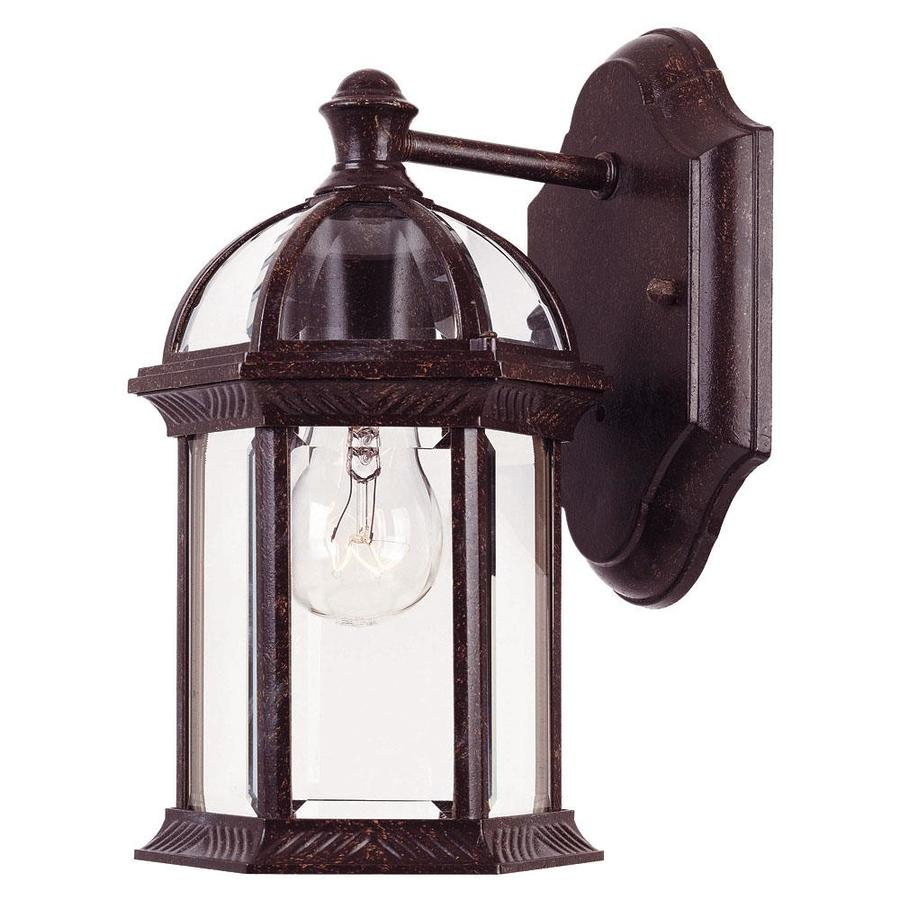 shop 10 5 in h rustic bronze outdoor wall light at