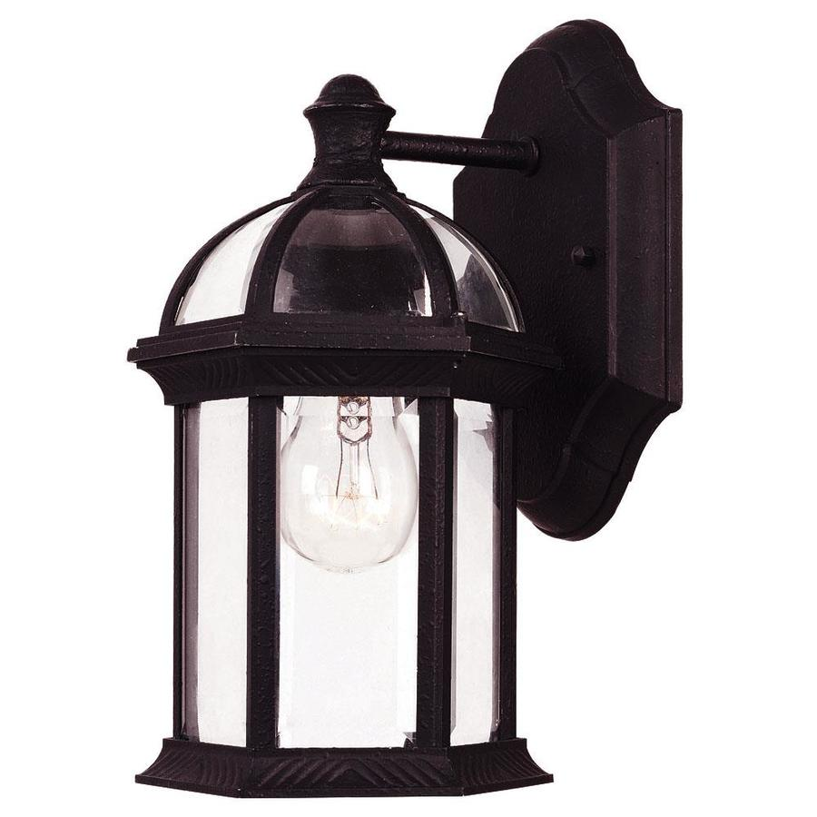 10.5-in H Textured Black Outdoor Wall Light