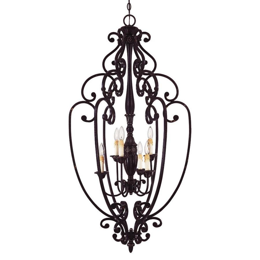 Shandy 26-in Distressed Bronze Single Pendant