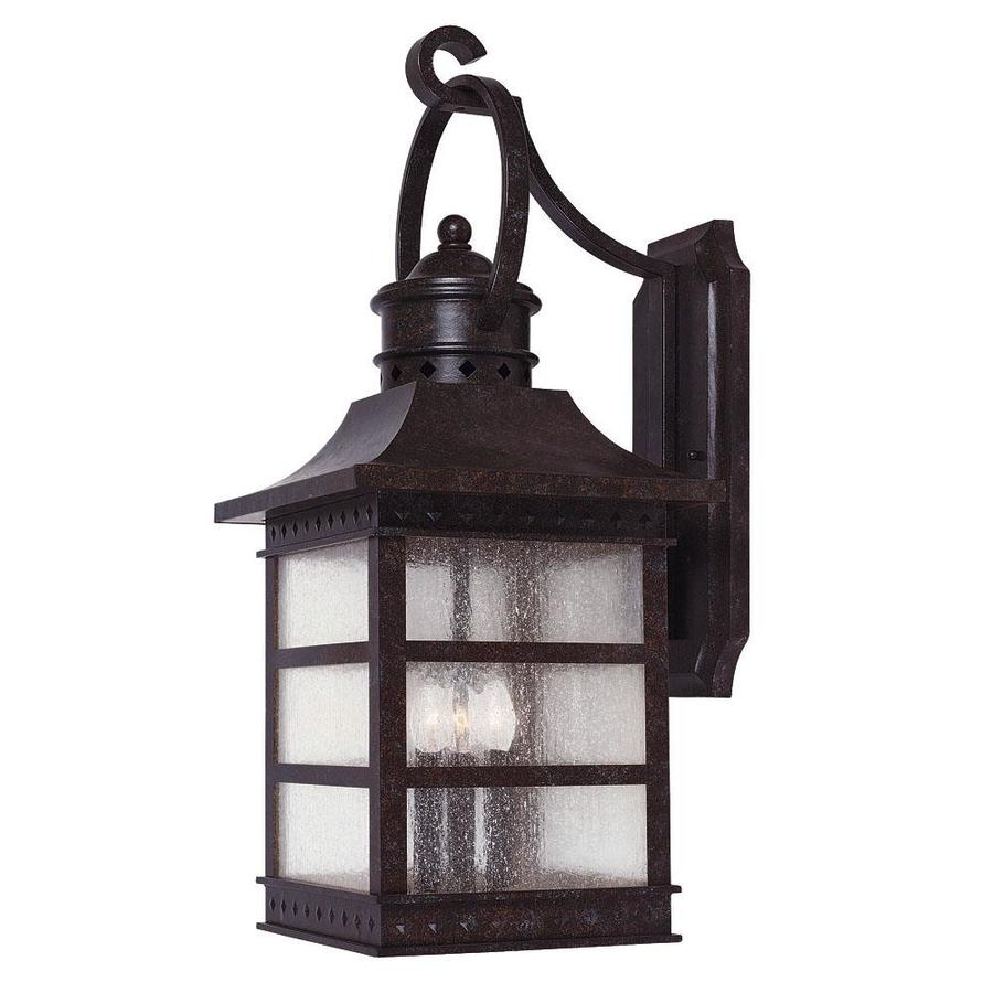 21.25-in H Rustic Bronze Outdoor Wall Light