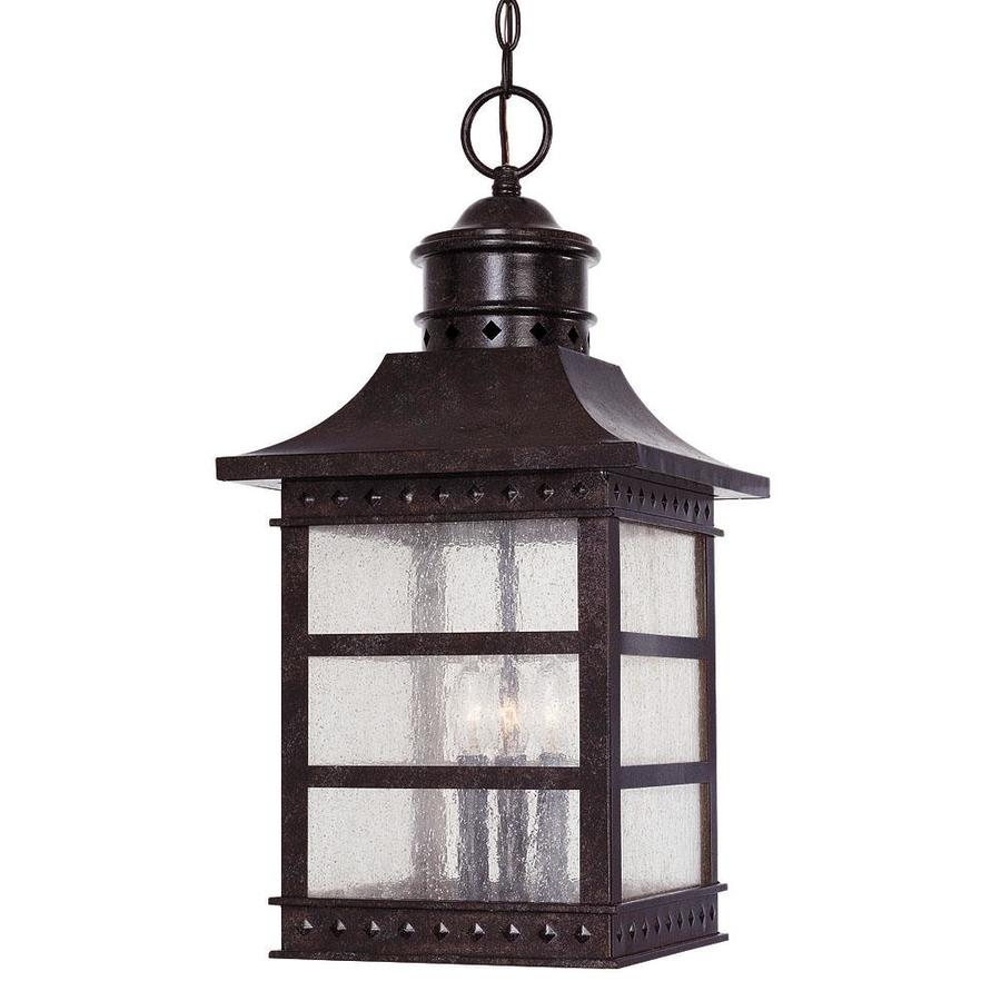 Huth 24.75-in Rustic Bronze Outdoor Pendant Light
