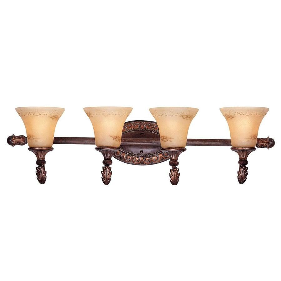 Shop Shandy 4-Light 10.25-in Florencian Bronze Vanity Light at Lowes.com